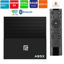 ТВ-бокс android 9,0 Amlogic S905x2 A95x F2 android tv box 4 ГБ 32 ГБ 64 Гб Bluetooth 2,4/5 г wifi Voice Contorl смарт-ТВ на андроид коробка