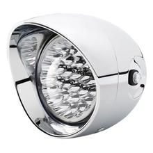 7 LED Motorcycle Bullet Chrome Headlight Light fit For Harley Choppers NEW 1pcs x chrome led headlight for harley davidson v rod vrod headlight vrsc v rod led headlight motorcycle aluminum headlight
