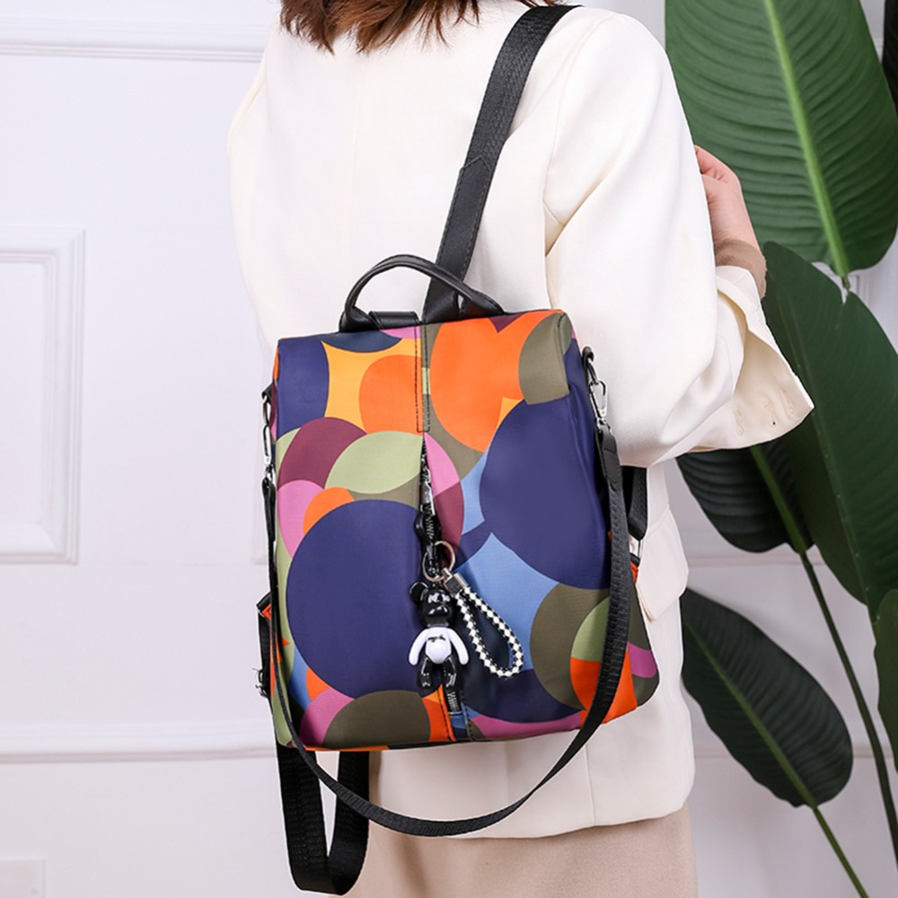 Casual Oxford Cloth Women Backpack Anti Theft Girls Schoolbags Teenager Travel Daypack Shoulder Bag Colorful Fashion Back Pack