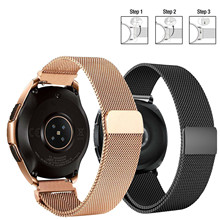 Stainless Steel Band Milanese Loop Watch Strap Quick Release Pins for watches Samsung Gear S3 S2 22mm/ 20mm s3 frontier classic 22mm 20mm stainless steel watch band milanese loop watch strap quick release pins for samsung gear s3 s2