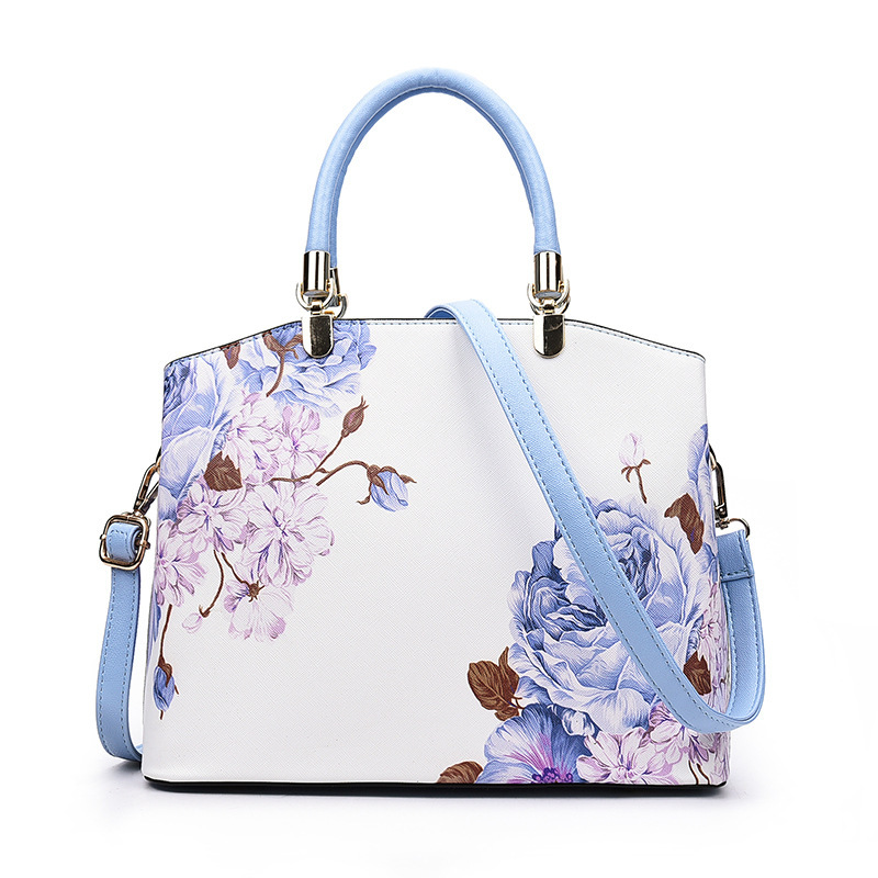 New Designer Ladies Hand bag Famous Brand Printing Flower PU Leather Women Handbags Shoulder Bag For Female Tote Bags