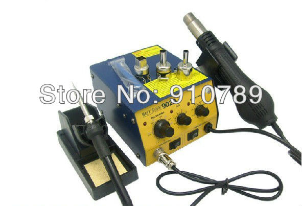 DHL/FEDEX freehipping Intelligent Lead-free Mobile phone repair hot air gun + soldering iron station SMD Hot Air Rework Station