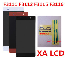 купить For SONY Xperia XA 5.0 inch LCD Display F3111 F3112 F3115 F3116 Touch Screen Digitizer 1280*720 Assembly Frame дешево