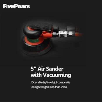Fivepears Geräuscharm Luft Exzenterschleifer Leichte Maschine 5 Zoll Kreis Runde Pad Luft Sanders Mit Vakuum Freies Verschiffen