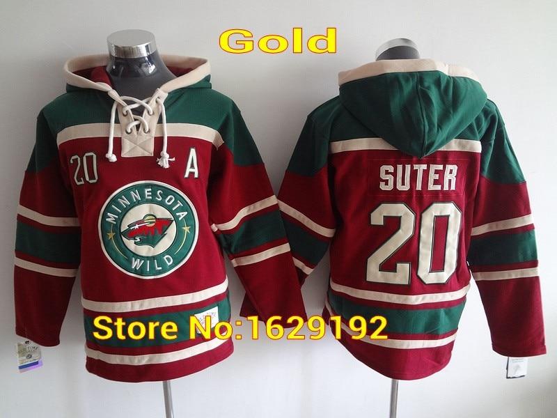 c01e4df16 Mens Minnesota Wild Hoodie 20 Ryan Suter 22 Nino Niederreiter Red Green Old  . ...