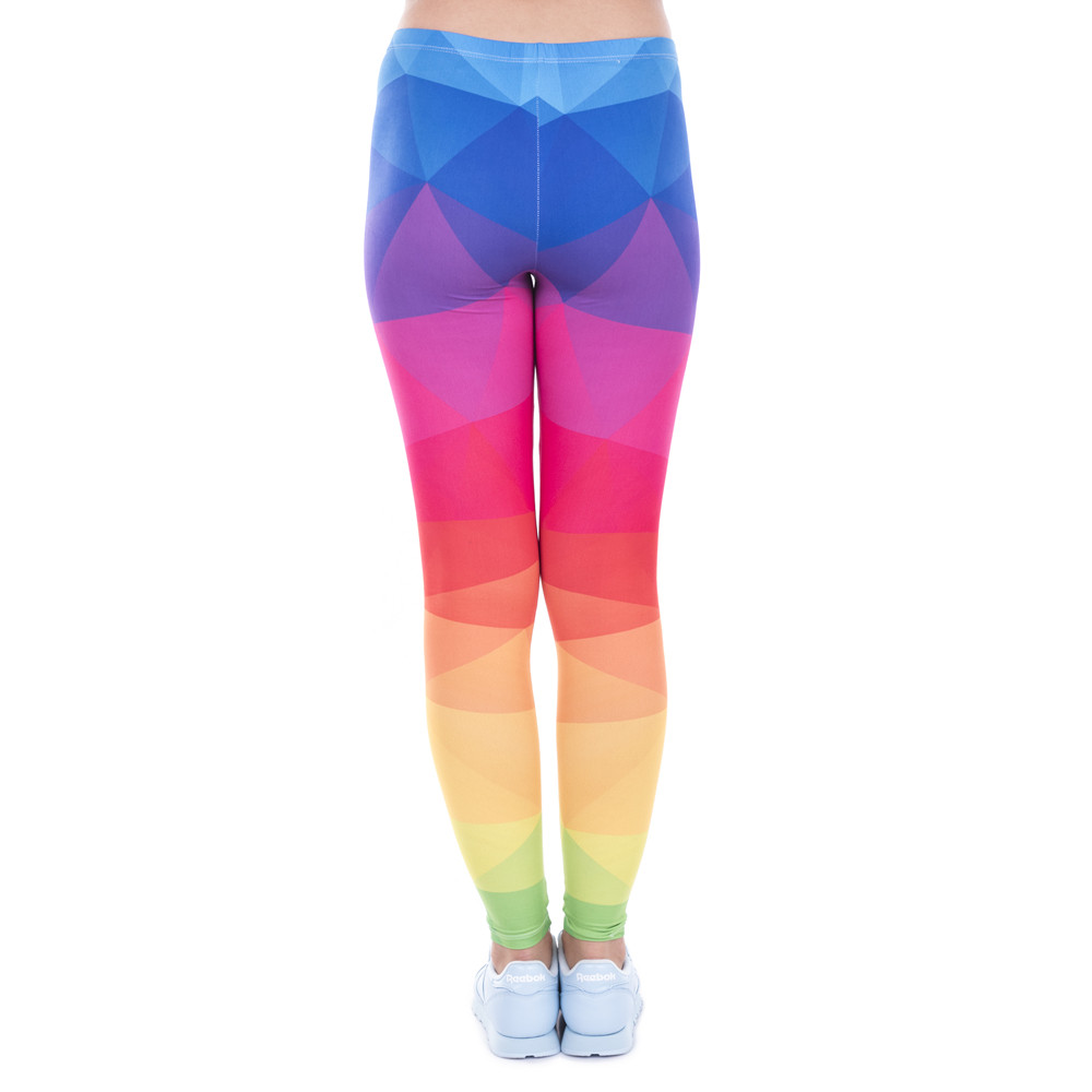 Rainbow Triangles Printed Women Leggings