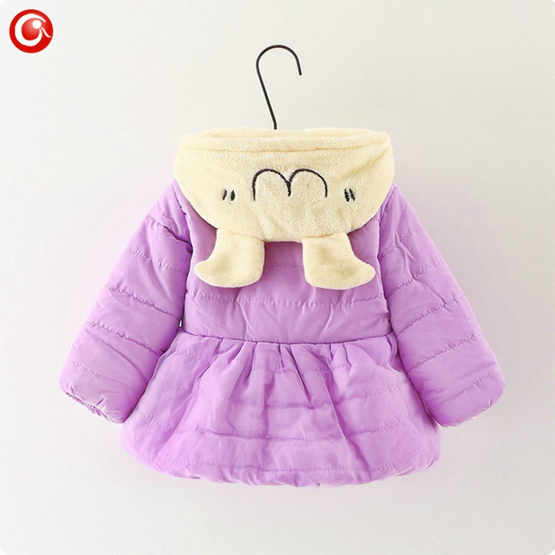 Winter Baby Girls Cartoon Rubbit Coat Thicken Kids Girl Snow Jacket Fleece Hooded Cotton Padded Outwear Christmas Clothes 2016 (11)