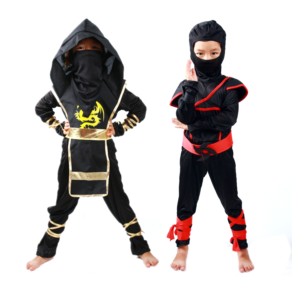 Kids Ninjago Clothes Sets Ninja Costumes Christmas Party Boys Girls Warrior Stealth New Year Purim Cosplay Assassin Costume
