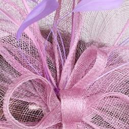 Винтажный белый головной убор Sinamay шляпа с причудливыми перьями Свадебные шапки Клубная кепка очень красивая 21 цвет можно выбрать SYF280 - Цвет: Лаванда