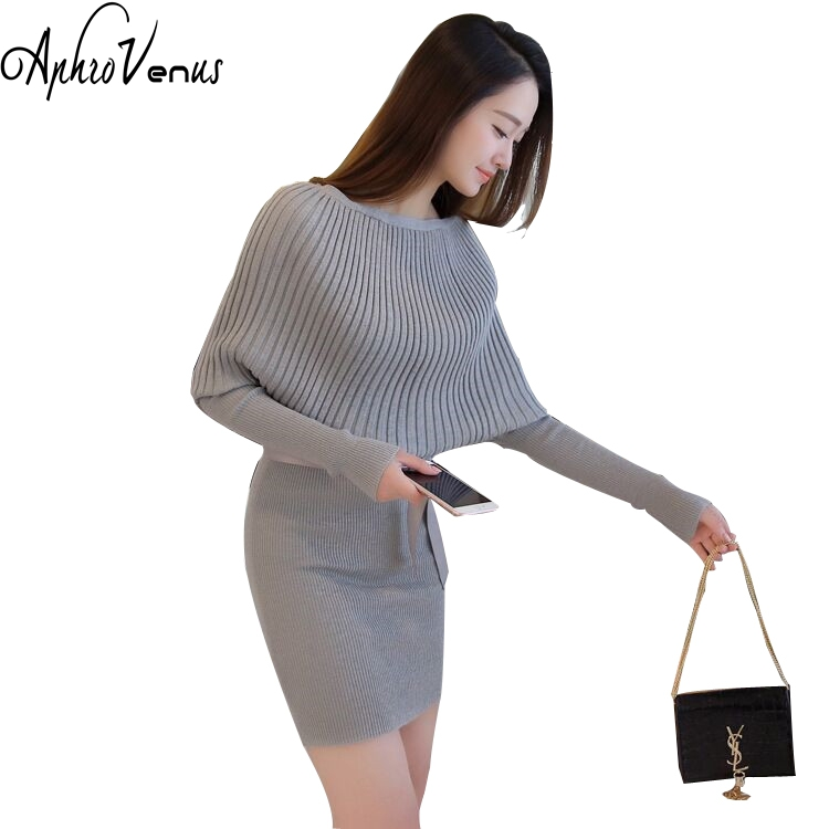 Women/'s Ladies Jumper Sweater Dress Winter Long Sleeve Wearwork Bodycon Knitted