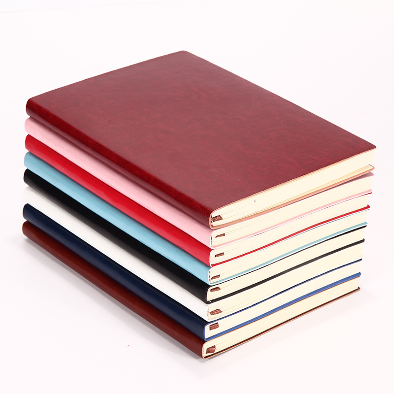 Vintage Soft PU Leather Notebook A5 Thick Paper Office School Supplies Stationery Planner Diary Notebooks Business Notepad fashion business pu leather a5 notebook portable black red book travel journal planner diary stationery office & school supplies