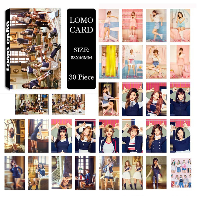 US $2 02 30% OFF|KPOP TWICE SIGNAL Album LOMO Cards K POP New Fashion Self  Made Paper Photo Card HD Photocard-in Jewelry Findings & Components from