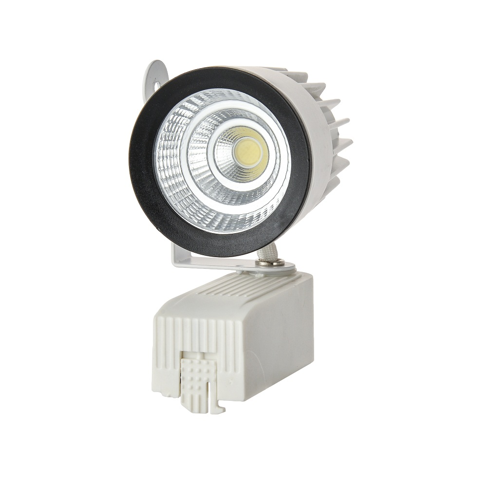 Free Shipping 15W High Power LED track light for store/shopping mall lighting lamp Color optional White/black Spot light 4pcs