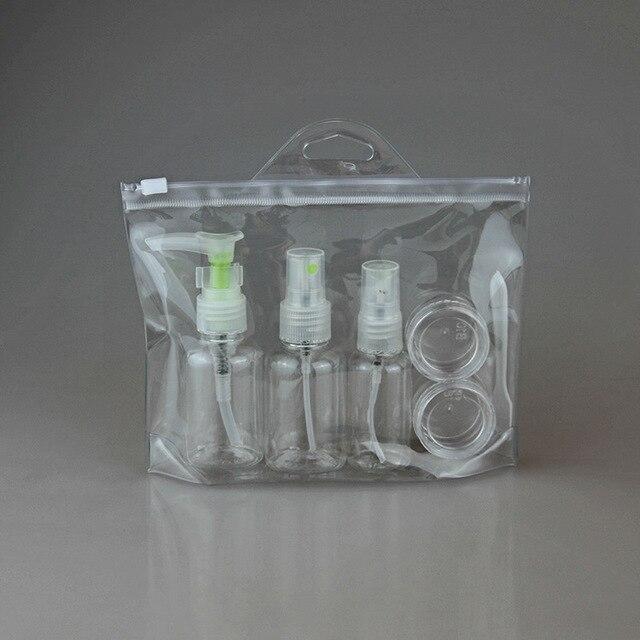 5 шт. Мини Пластиковый Прозрачный Маленький Пустой Духи Спрей Бутылку Случае Контейнер Путешествия Уход За Кожей Многоразового