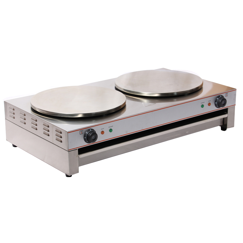 40CM Double Head Commercial Crepe Maker Machine /Electric Pancake Maker Machine/ Crepe Machine