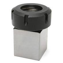 1pc Square ER40 Collet Chuck Block Holder 3900 5125 For CNC Lathe Engraving Machine Cross Hole
