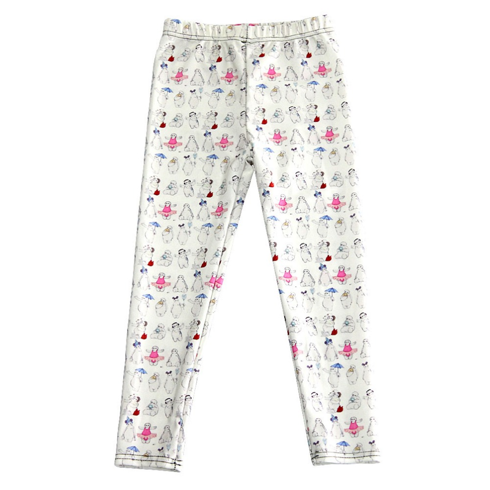 For Teenage Girl Cartoon Kinds of Baymax Print Fitness Pants Casual Exercise Leggings Elastic Fiber Full Length Energy Trousers