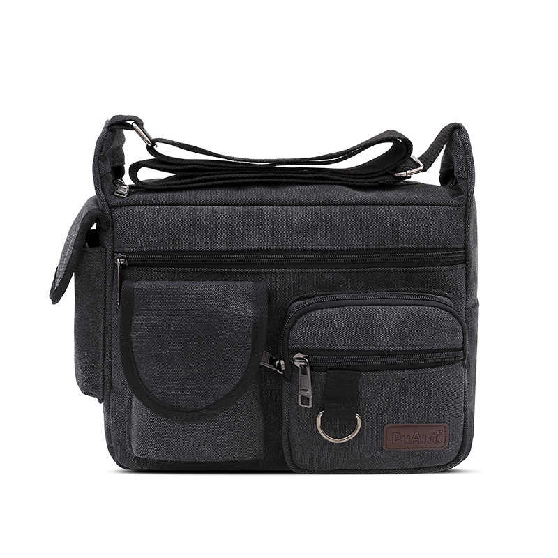 Z. l. d.2019 novas dos homens ombro saco de lona Moda Casual Saco Crossbody Saco Saco do Mensageiro Dos Homens Da Lona Do Vintage Bolsa de hombres