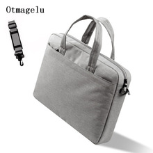 Linen Laptop Bag 13 14 15 Inch Messenger Handbag Case For Apple MacBook Air Pro 15.6 High Capacity Laptop Case Free Shipping