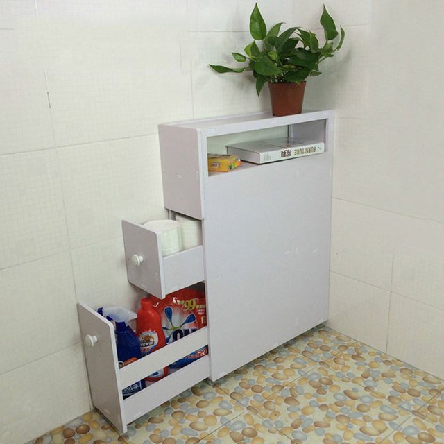 1 Pc Movable 3 Layers Storage Holders Floor Type Bathroom Shelves ...