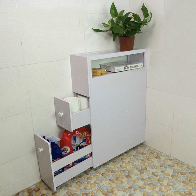 1 Pc mobile 3 couches supports de stockage Type de sol étagères de salle de bain Rack PVC supports des etats-unis