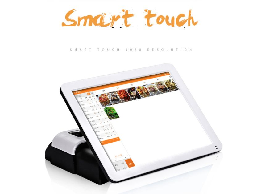 "15"" Retail Pos System All In One Dual Screen Touch Pos Retail"