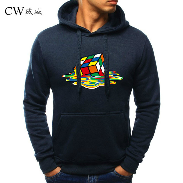 9fa91ac939 2018 New Navy Blue Hoodie Sweatshirt Men Women Hoodies Rubik Cube 3D Print Sweatshirts  Hoodies Hoody Tracksuits Asian size M-4XL