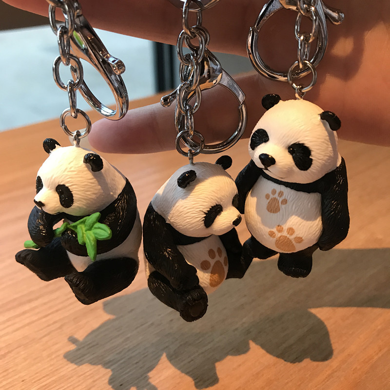 2019 New  Panda Key Chain New Cute Panda Keychain For Bag Car Key Ring Tourism Souvenir Gifts Key Chains