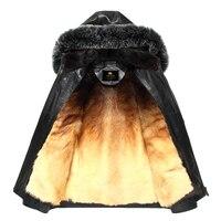 Factory Direct Delivery 100 Natural Fur Sheepskin Coat Genuine Leather Coat Cold Male Men 2017 Winter