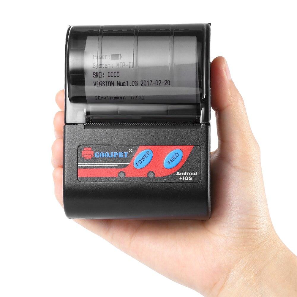 GOOJPRT MTP-II 58mm Portablle Android Bluetooth Thermische Drucker Erhalt Drucker für mobile POS drucker bluetooth ticket drucker