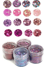4 Boxes/Set Chunky Glitter 10ml Flake Face Eye Body Shiny Sequin 0.2-2mm Nail Art Tip Decor For