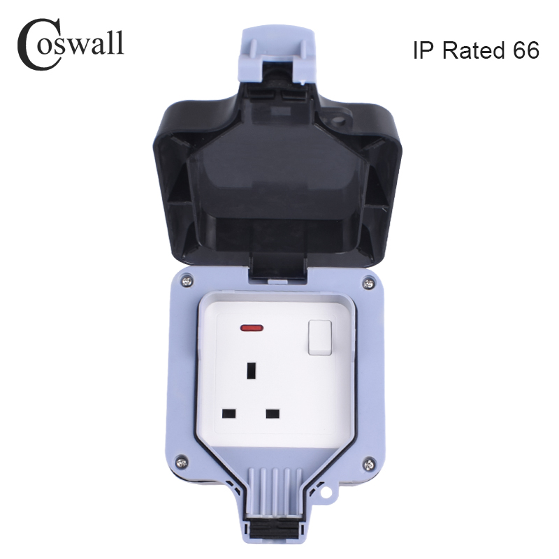 Home Appliance Parts Confident Ip66 Waterproof Wall Outlet Wall Mounted Plug Adapter Socket With Switch Hot Air Purifier Parts
