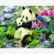 China Panda Home Decor DIY Diamond Painting Cat Animal Full Drill Square Embroidery Round Single Cute Cartoon Wall Sale