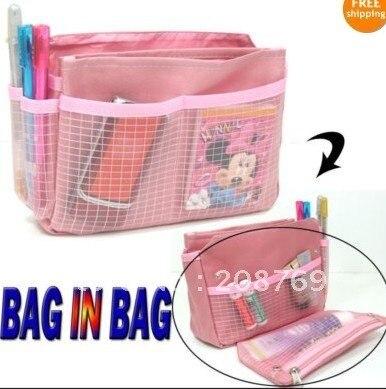 free shipping wholesale hot-sale organizer bag, fashion organizer, purse organizer for women (100 pcs/lot)