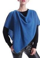 100%goat cashmere knit woman's fashion scarfs pashmina poncho slash neck solid color 60x70cm
