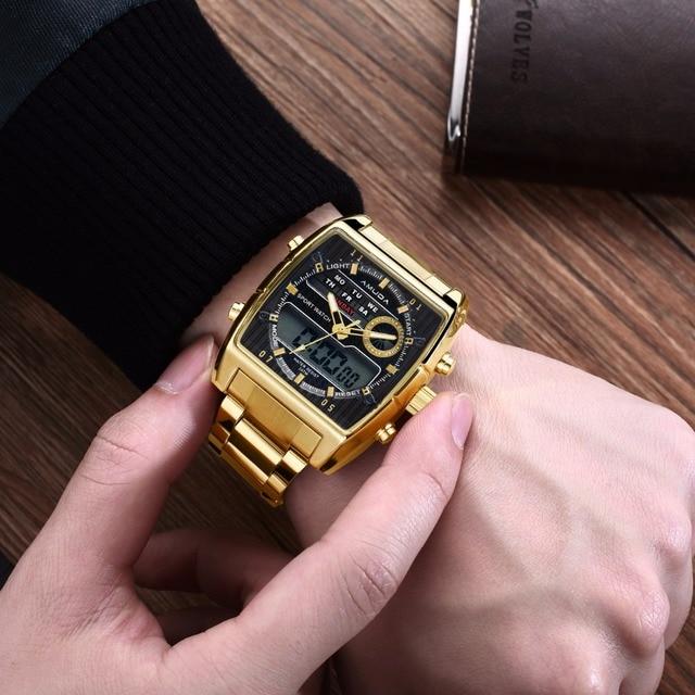Amuda Men Quartz Wristwatches Fashion Sport Watch Auto Date 30M Waterproof Clock