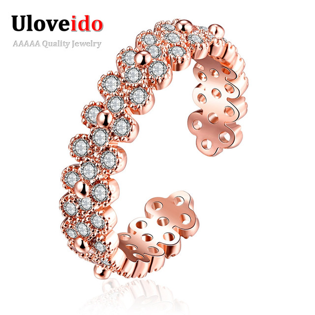 Gold Plated Ring 2016 Ladies Crystal CZ Engagement Cocktail Rings New Design Finger Ring Jewelleries for Lady R012-A-7