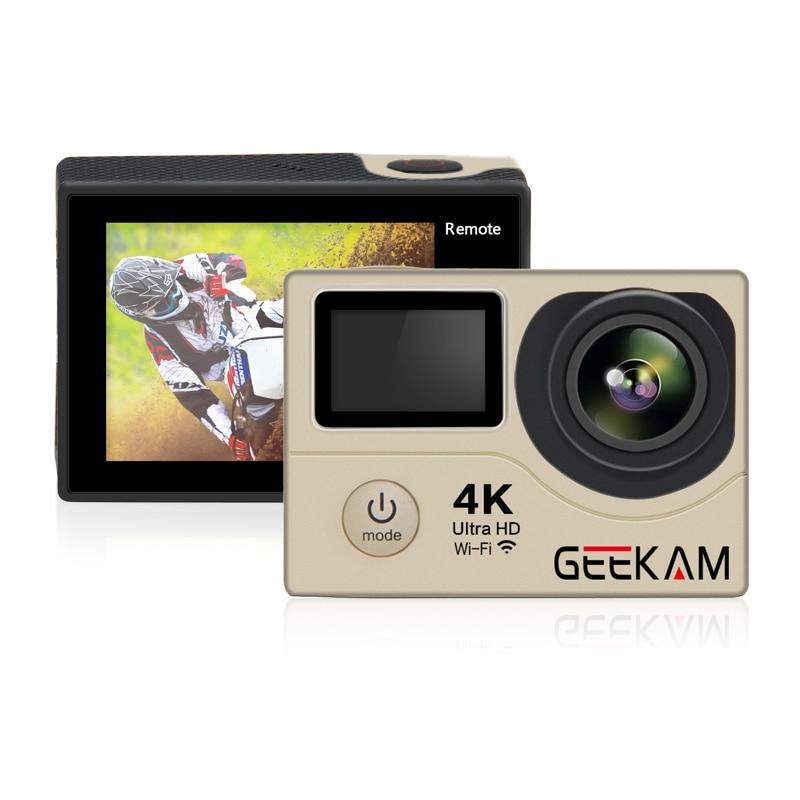 Galleria fotografica GEEKAM H3R Mini Action Camera 4K wifi Ultra HD 4k/25FPS 1080P 60FPS 30M Hero 4 Style Waterproof Remote Video Camera Photo Cam