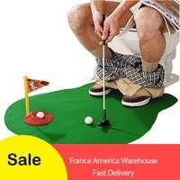 Potty Putter Wc Golf Game Mini Golf Set Wc Golf Putting Green Neuheit Spiel Hig Qualität Für Männer und Frauen praktische Witze