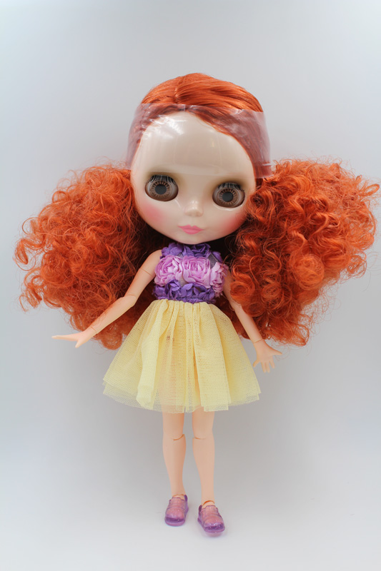 Free Shipping BJD joint RBL-222J DIY Nude Blyth doll birthday gift for girl 4 colour big eyes dolls with beautiful Hair cute toy free shipping nude blyth doll black4 hair big eye doll for girl s gift pjb004