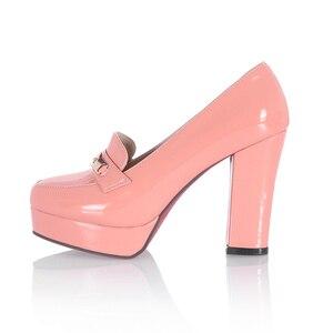 Image 2 - ريزابينا شحن مجاني حذاء نسائي ذو كعب عالٍ نساء موضة منصة مضخات فستان مكتب سيدة مثير الأحذية P11125 حجم 34 43