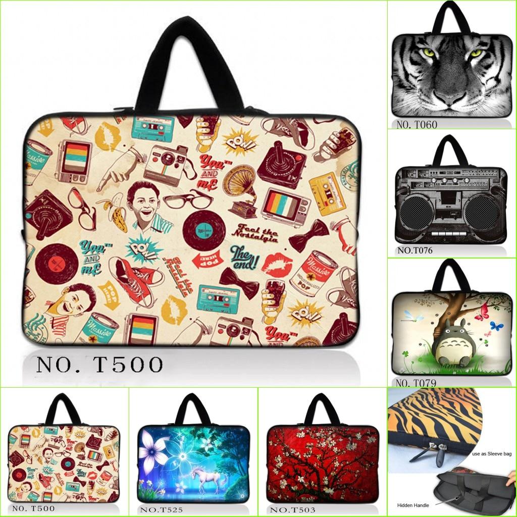 Pattern Panda Playing Football Hand Laptop Handbags 14 Laptop Shoulder Bag Messenger Bag Case Notebook Handle Sleeve Neoprene Soft Carring Tablet Travel Case