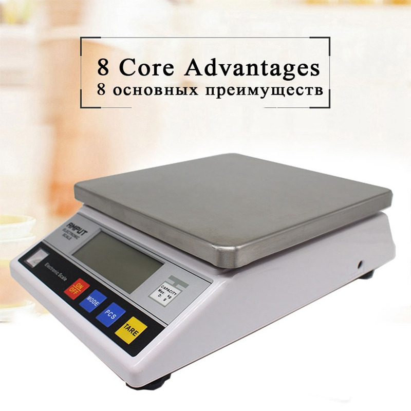 7.5kg x 0.1g LCD Electronic Scale Digital Precision Industrial Balance Scale For Laboratory Gold Jewelry Gram Weight Platform7.5kg x 0.1g LCD Electronic Scale Digital Precision Industrial Balance Scale For Laboratory Gold Jewelry Gram Weight Platform