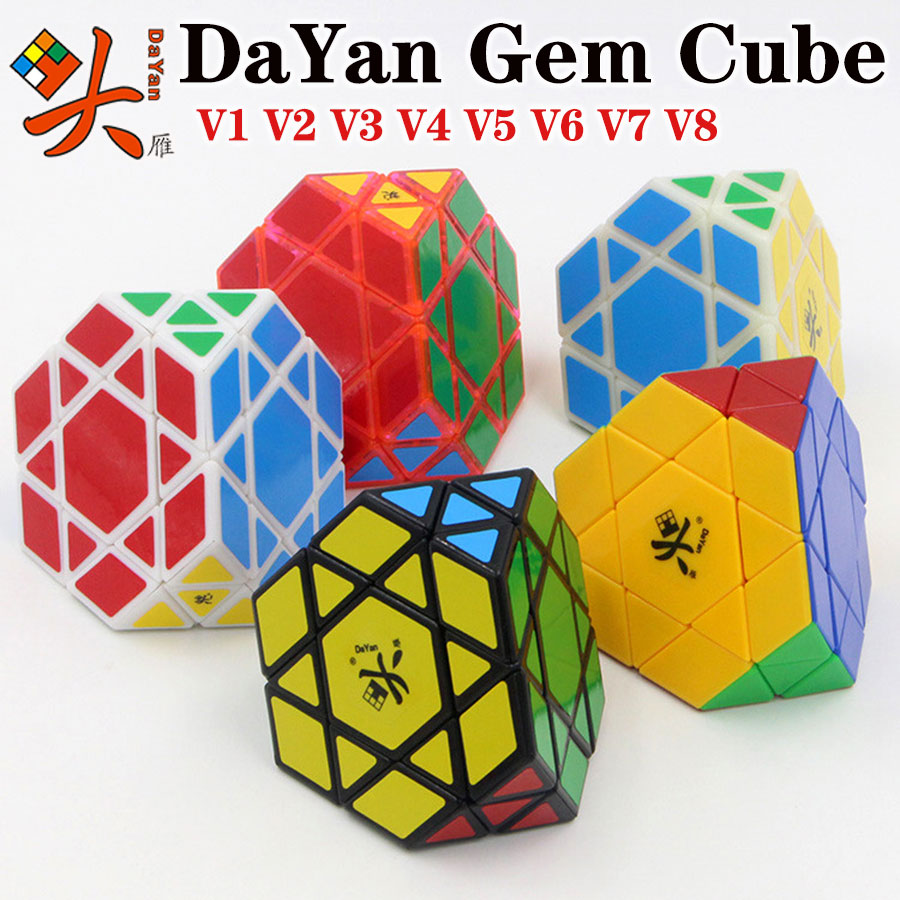 Magic Cube Puzzle DaYan Gem Cube V1 V2 V3 V4 V5 V6 V7 V8 Big Diamond Stone Strange Shape Special Cube Educational Toys Game Gift