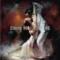 Hand painted beauty artwork Lover oil paintings Tango Argentino by Willem Haenraets Dancers Canvas Art Living room decor