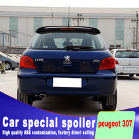 high quality ABS material for peugeot 307 hatchback car 2006 to 2012 rear window roof rear wing spoiler by primer or any color