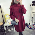 Kesebi 2016 Autumn Winter Women Turtleneck Long Loose Thick Warm Soft Sweaters Female Solid Color Long Sleeve Oversize Pullovers