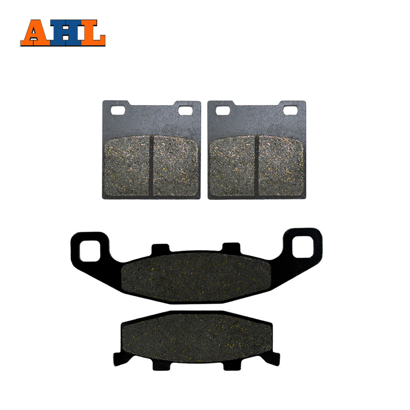 AHL Motorcycle Front and Rear Brake Pads for SUZUKI GSX 250 SSM Katana GJ76A GSF 400 M/N/P Bandit GS 500 EK/EL/EM/EN/EP/ER/ES motorcycle front and rear brake pads for suzuki gsx 750 gsx750 f katana 1998 2006 black brake disc pad