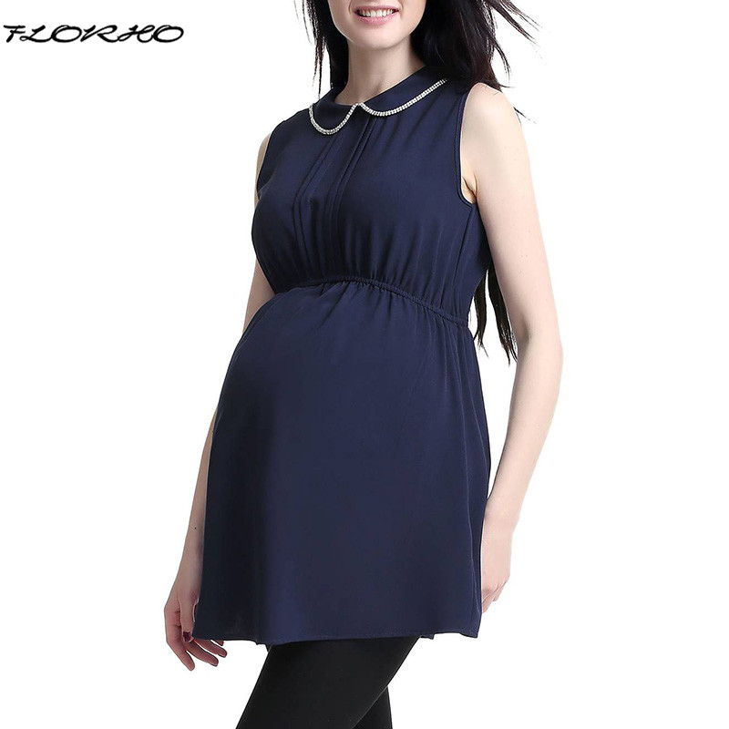 Maternity Clothes 2018 Summer Pregnancy Women Blouses Shirts Casual Loose Sleeveless Elegant Tees Tops Pregnant Blusas Plus Size