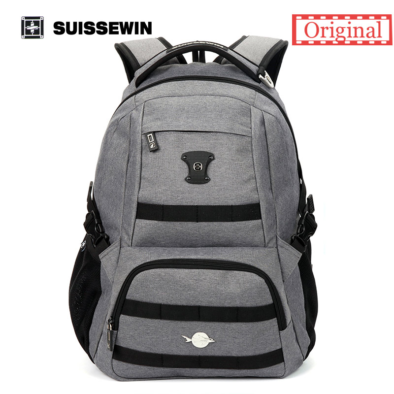 Suissewin Brand Laptop Bag Fashion Notebook Bag Backpack for Girls Boys Backpack Men Male Women Backpack Female Bag to School men backpack student school bag for teenager boys large capacity trip backpacks laptop backpack for 15 inches mochila masculina